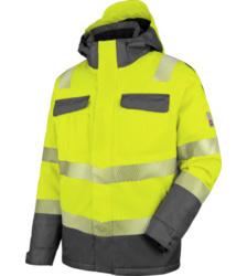 Foto von Warnschutz Parka Neon EN 20471 3 gelb anthrazit