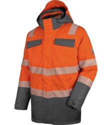 Foto von Warnschutz Winter Parka 3in1 Neon EN 20471 3 orange anthrazit
