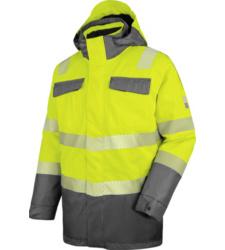 Foto von Warnschutz Winter Parka 3in1 Neon EN 20471 3 gelb anthrazit