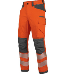 Photo de Pantalon de travail haute-visibilité EN 20471 2 Neon Würth MODYF orange anthracite
