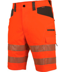 Photo de Bermuda de travail haute-visbilité EN 20471 1 Neon Würth MODYF orange anthracite