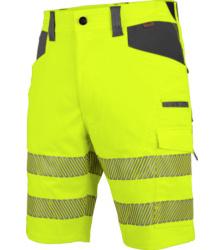 Photo de Bermuda de travail haute-visbilité EN 20471 1 Neon Würth MODYF jaune anthracite