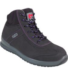 Photo de Chaussures de sécurité montantes femmes Carina S3 Würth MODYF noires/violettes