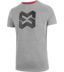 Foto von Arbeits T-Shirt X Finity Logo grau