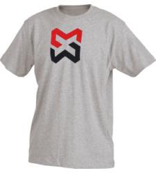 Foto von Kinder Arbeits T-Shirt X-Finity grau meliert