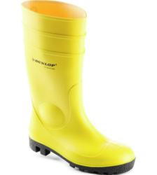 Wasserdichter Sicherheitsgummistiefel gelb S5 mit Zehenschutz, beständig gegen Öle & Fette