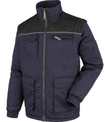 Foto von Wattierte Jacke mit abnehmbaren Ärmeln marine/schwarz