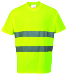 Photo de T-shirt haute visibilité jaune fluo