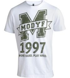 Foto von Arbeits T-Shirt Logo weiss