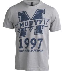 foto di T-shirt Logo Modyf grigia