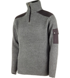 Photo de Pull zippé de travail Ranger gris anthracite