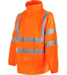 Photo de Veste de pluie haute visibilité EN 20471 3.2 et EN 343 3.1 Würth MODYF orange
