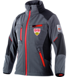 Foto von VfB Limited Edition Kinder Softshelljacke One anthrazit