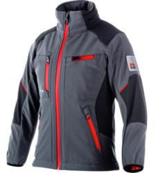 Winddichte & wasserabweisende Softshell-Jacke für Kinder in Grau, cooles Design, hochwertiges & robustes Material