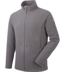 Graue Fleecejacke für Profis, weich & warm, bester Tragekomfort, 2 Seitentaschen