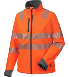 Foto von Warnschutz Softshelljacke Neon Damen orange