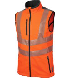 foto di gilet alta visibilità Neon EN 20471 2 arancione
