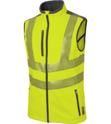 foto di gilet alta visibilità Neon EN 20471 2 giallo