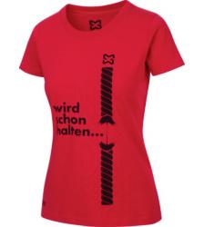 Foto von Arbeits T-Shirt Damen rot