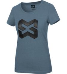 Foto von Arbeits T-Shirt Logo IV Damen dunkelblau