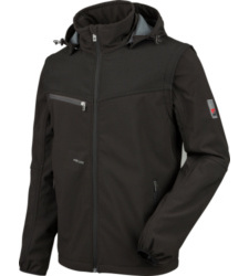 Photo de Veste Softshell de travail Stretch X Würth MODYF noire