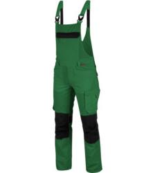 Praktische Arbeitslatzhose, Arbeitslatzhose ISO 15797 zertifiziert, Arbeitslatzhose Industriewäsche geeignet, Latzhose grün, hautfreundliche Latzhose