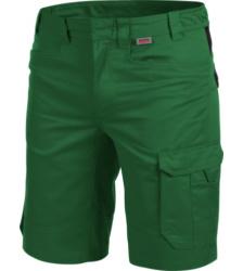 Funktionelle Bermuda, Bermuda mit vielen Taschen, praktische Bermuda, Arbeitsshorts grün, metallfreie Bermuda
