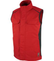 Trageangenehme Weste, hochwertige Weste, Weste ISO 15797, rote Arbeitsweste, Weste für Elektriker