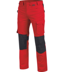 Photo de pantalon de travail cetus würth modyf rouge/anthracite
