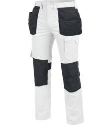 Metallfreie Bundhose, Bundhose mit vielen Taschen, Bundhose mit zusätzlichen Holstertaschen, Bundhose OEKO-TEX 100, Bundhose weiß, Bundhose für Maler