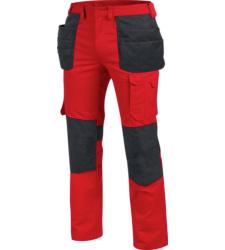 Langlebige Handwerkerhose, metallfreie Handwerkerhose, Handwerkerhose ISO 15797, Handwerkerhose mit Holstertaschen, Handwerkerhose rot