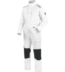 Metallfreier Arbeitsoverall, kratzfreier Blaumann, Arbeitsoverall ISO 15797, Arbeitsoverall mit funktionellen Taschen, Arbeitsoverall weiß, Arbeitsoverall für Maler