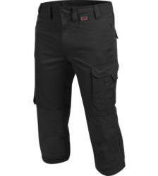 Metallfreie 3/4-lange Arbeitshose, hautfreundliche 3/4-lange Arbeitshose, 3/4-lange Arbeitshose mit Taschen, 3/4-Hose schwarz, Piratenhose mit Taschen