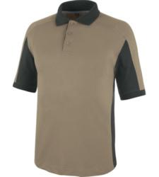 Trageangenehmes Polo, Polo für Schreiner, Polo für Tischler, Poloshirt Standard 100 by OEKO-TEX, Poloshirt für industrielle Reinigung, Poloshirt beige