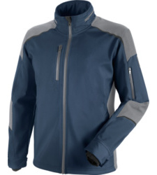 Photo de veste softshell de travail cetus würth modyf marine/grise