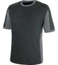 Zweifarbiges Kurzarmshirt, atmungsaktives Kurzarmshirt, T-Shirt aus hochwertiger Qualität, komfortables T-Shirt, T-Shirt grau/anthrazit