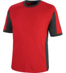 Atmungsaktives T-Shirt, metallfreies T-Shirt, Arbeits-T-Shirt mit OEKO-TEX® Standard 100, Arbeits-T-Shirt rot, Arbeitsshirt mit UV-Schutz