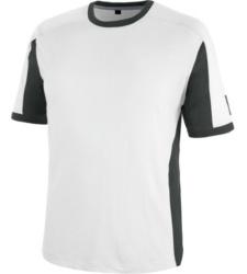 Metallfreies T-Shirt, atmungsaktives T-Shirt, T-Shirt ISO 15797, T-Shirt OEKO-TEX 100 Standard, Arbeits-T-Shirt weiß, T-Shirt für Maler, T-Shirt für Gipser, T-Shirt für Stuckateure