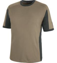 Atmungsaktives T-Shirt, metallfreies T-Shirt, T-Shirt für Schreiner, T-Shirt für Tischler, T-Shirt ISO 15797, T-Shirt professionelle Industriewäsche, Arbeits-T-Shirt beige