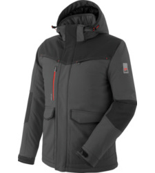 Foto van gewatteerde stretch softshell x würth modyf antraciet