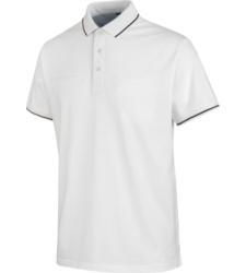 foto di Polo uomo Jersey X bianca con taschino