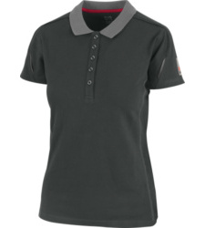 Foto von Poloshirt Stretch X Damen anthrazit