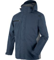 Bequeme Regenjacke, Regenjacke EN 343, Regenjacke für Handwerker, Regenjacke mit praktischen Details, Regenjacke marineblau