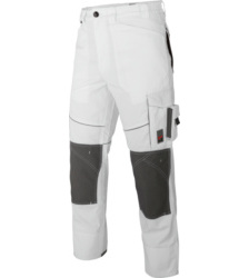 Photo de Pantalon de travail Star Line Plus blanc/gris