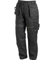 Arbeitshose in Schwarz, mit elastischem Bund für mehr Tragekomfort, robust & strapazierfähig, EN 14404
