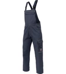 Blaue Arbeitslatzhose für Handwerker, aus hochwertiger BAumwolle, Öko Tex 100 zertifiziert, mit praktschen Taschen