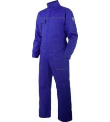 Blauer Arbeitsoverall für Handwerker, aus 100% Baumwolle, klassischer Schnitt