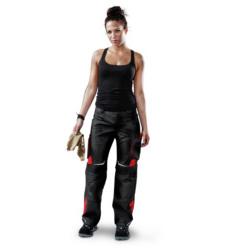 Foto von Damen Arbeitshose Pulsschlag Schwarz, Rot