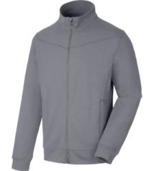 Moderne Sweatjacke, Arbeitsjacke mit Tragekomfort, graue Jacke mit praktischen Details, ideal geeignet für den Frühling oder Herbst