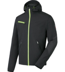 Foto van Werksoftshell Stretch Evolution Würth MODYF antraciet/lime